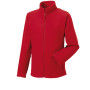 Men's full zip outdoor fleece classic red 3xl