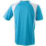 Men's Running-T - turquoise/wit