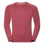 Adults HD Raglan Sweat, Red Marl, XXL, RUS