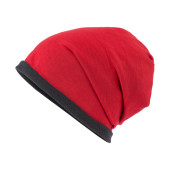 Fleece Beanie - rood/carbon