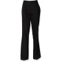 Ladies 65/35 flat fronted chino trousers black 42 eu (14 uk)