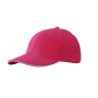 6 Panel Sandwich Cap roze/wit