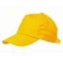 5 panel katoenen baseball cap RACING - geel