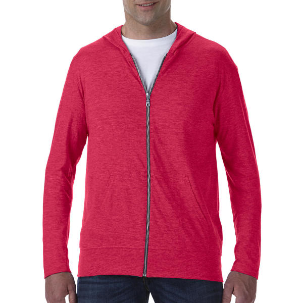 Adult Tri-Blend Full Zip Hooded Jacket