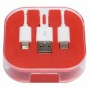 3-in-1 oplaadkabel RECHARGER - rood