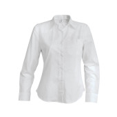 Dames stretch blouse lange mouwen white xxl