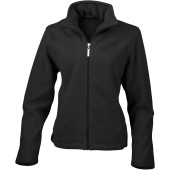 Womens micro fleece jacket black s (10 uk)