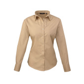 Ladies Poplin Long Sleeve Blouse