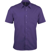 Ace - heren overhemd korte mouwen purple xl