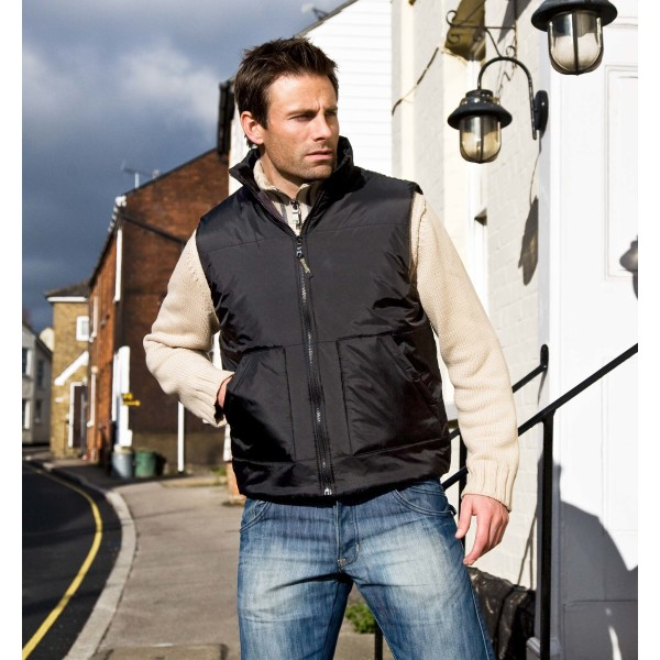 Fleece lined bodywarmer
