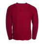 Men's Traditional Knitted Jacket rood/antraciet-melange/groen