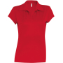 Damessportpolo red xl