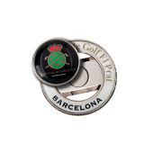 40mm Halo Ballmarker Holder with 2 Logo Domings on Ballmarker and on Holder