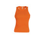 Angelina - dames racerback deep orange m
