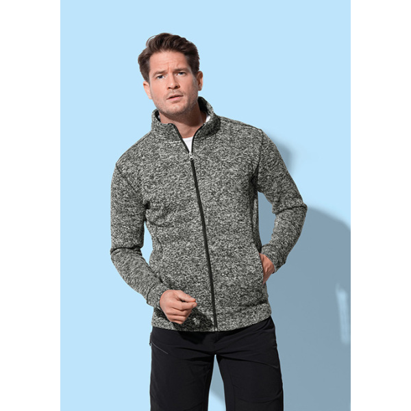 Stedman Knit Fleece Cardigan for him