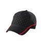 5 Panel Racing Cap Embossed zwart/zwart/rood