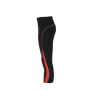Ladies' Running Tights 3/4 - zwart/tomaat