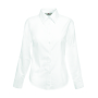 Lady-Fit longsleeve Oxford Shirt, White, XS, FOL