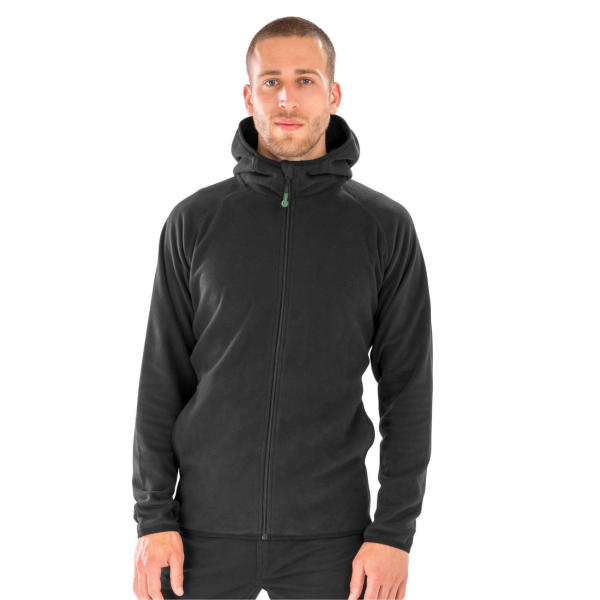 Hooded Recycled Microfleece Jacket