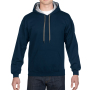 Gildan Sweater Hooded Contrast HeavyBlend navy/gy M