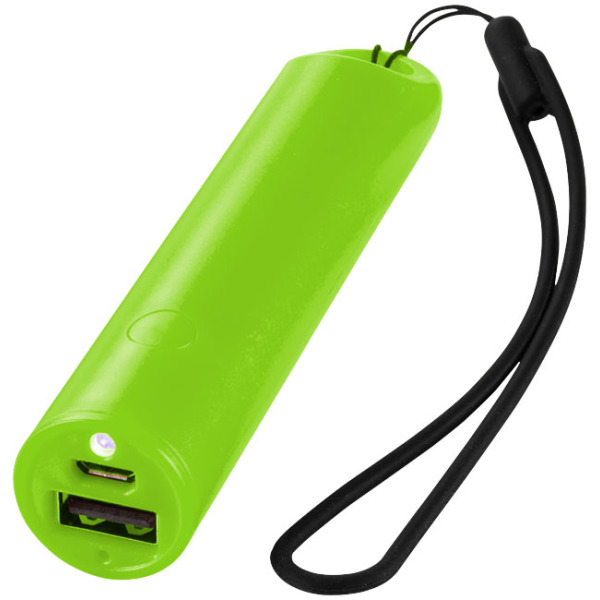 Bam 2200 mAh power bank with lanyard and LED light
