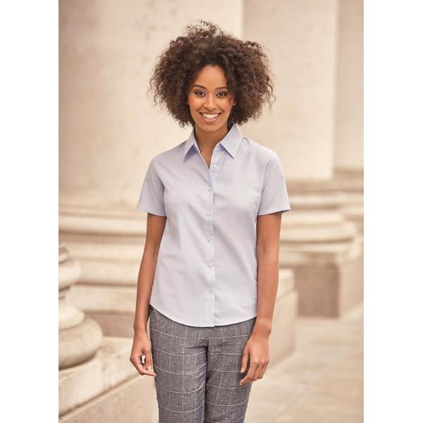 Ladies Shortsleeve Classic Oxford Shirt