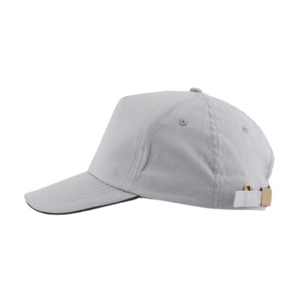 Cap 5 panel brushed met gesp sluiting