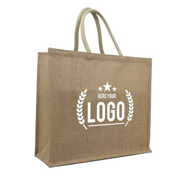 Jute shopper tassen - Naturel jute - Small