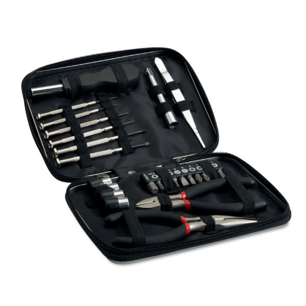 PAUL - 26 pcs tool in aluminium case