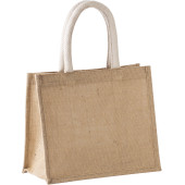 Shopper van jutecanvas - middelgroot model