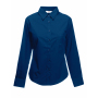 Lady-Fit longsleeve Poplin Shirt, Navy, M, FOL