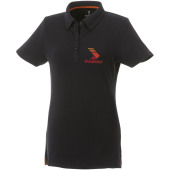 Atkinson button-down dames polo met korte mouwen - Zwart - XS