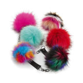 Fur Pop Pom Key Ring