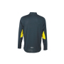 Men's Running Shirt - ijzergrijs/citroen