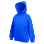 Kids Classic Hooded Sweat, Royal Blue, 5-6jr, FOL