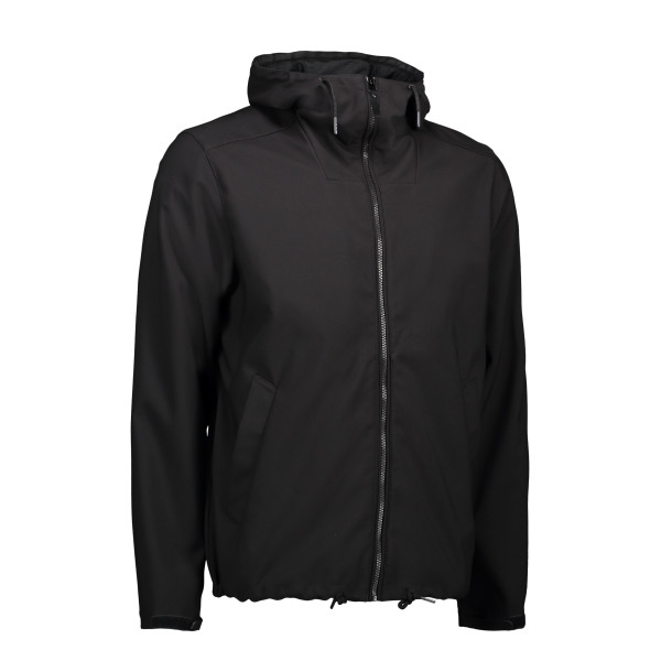 Men's casual soft shell jacket | hood