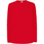 Kids valueweight long sleeve t (61-007-0) red 3/4 y (3/4 ans)