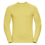 Adults HD Raglan Sweat, Yellow Marl, XXL, RUS