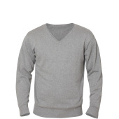 Aston heren V-neck sweater grijs melange 3xl