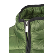 Men's Quilted Down Jacket - gebroken wit/zwart