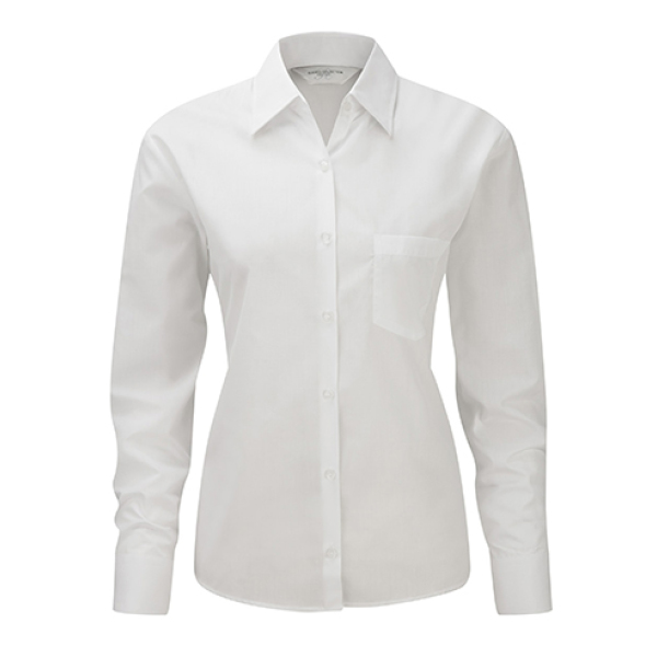 Ladies' LS Poplin Shirt