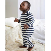Baby Striped Rompasuit - Navy/Washed White