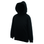 Kids Classic Hooded Sweat, Black, 14-15jr, FOL