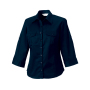 Dames Roll Sleeve Shirt met 3/4 mouwen XS French Navy