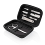 5 pc manicure set in pouch, black