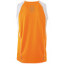 Men's Running Tank - oranje/wit