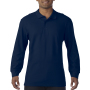Gildan Polo Premium Cotton Double Pique LS for him Navy 3XL