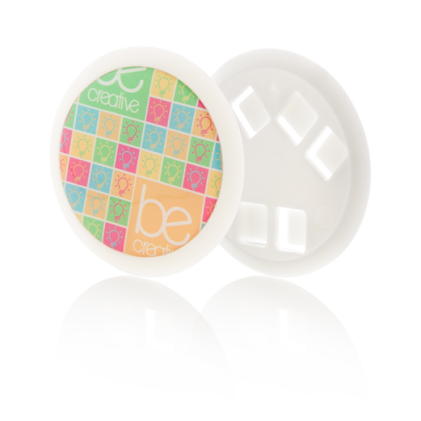 Plastic button voor lanyard - Full colour doming