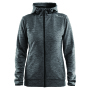 Craft Leisure Full Zip Hood Women dk grey mel. xs