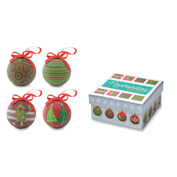 SQUARY - Christmas bauble set